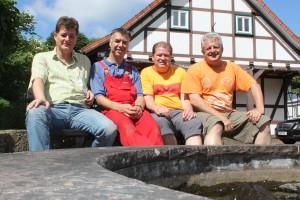 Vorstand des Heimatverein Volpriehausen e.V. Dietmar Sattler, Sven Freyer, Jörg Richter, Harald Wokittel