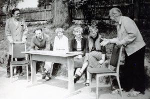 1983 - Ische, Tilch, Ilse, Wiese, Müller, Rehnfahrt